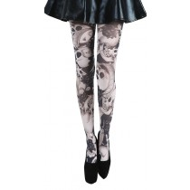 Riley Printed Skull Tights