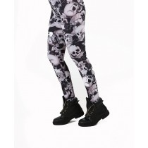 Riley Skull Print Leggings (Black)