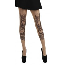 See, Hear, Speak No Evil Tattoo Tights (