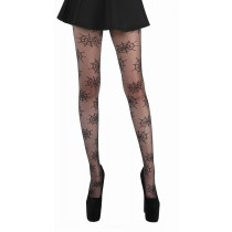 Sheer Cobweb Tights (Black)