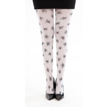 Skulls A Printed Tights (White)