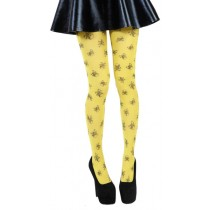Skulls A Printed Tights (Flo Yellow)