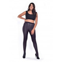 90 Denier Curvy Super-stretch Tights (Slate)