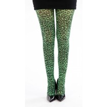 Small Leopard Printed Tights (Flo Green)