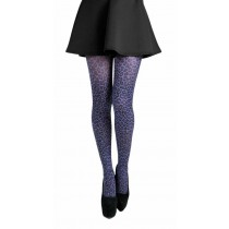 Small Leopard Printed Tights (Flo Purple)