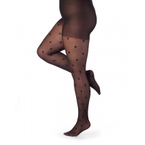 Star Pattern Curvy Super Stretch Tights