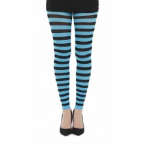 Twickers Footless Tights (Flo Turquoise)