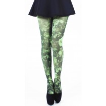 Twilight Printed Tights (Flo Green)