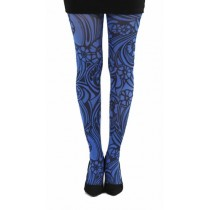 Varrick Printed Tights (Flo Blue)