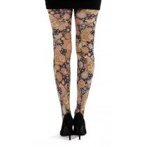Vibrant Flower Printed Tights