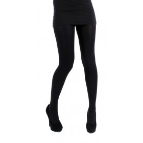 120 Denier 3D Opaque Tights (Black)