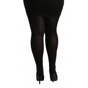 Plus Size 140 Denier Microfibre Tights (Black)
