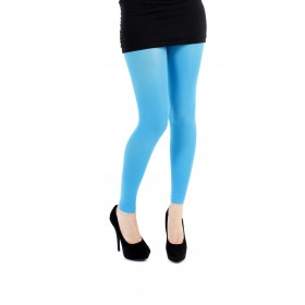 40 Denier Velvet Footless Tights (Flo Turquoise)