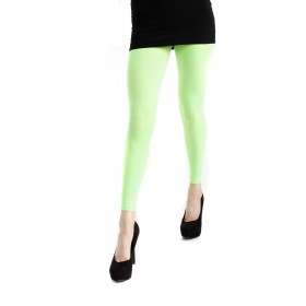 40 Denier Velvet Footless Tights (Flo Green)
