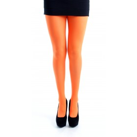50 Denier Opaque Tights (Flo Orange)