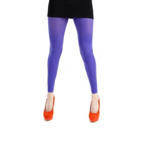 50 Denier Footless Tights (Flo Purple)
