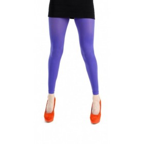 40 Denier Velvet Footless Tights (Flo Purple)