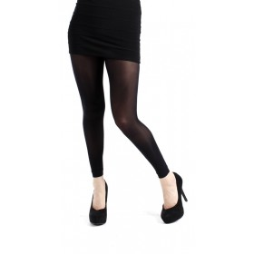 40 Denier Velvet Footless Tights (Black)