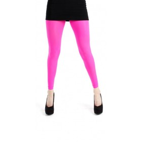 50 Denier Footless Tights (Flo Pink)