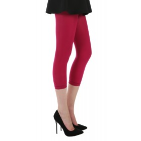 50 Denier Capri 3/4 Tights (Cerise)