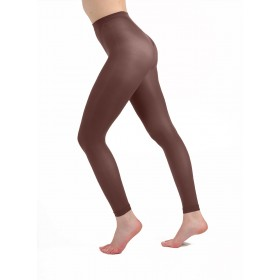 50 Denier Footless Tights (Chocolate)