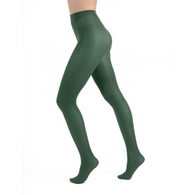 50 Denier Opaque Tights (Leaf Green)