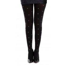 50 Denier Opaque Tights With Small Silver Studs (Black/Silver)