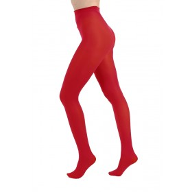 50 Denier Opaque Tights (Flo Red)