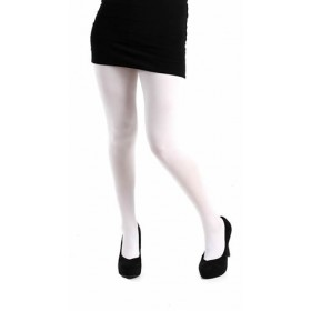 80 Denier Opaque Tights (White)