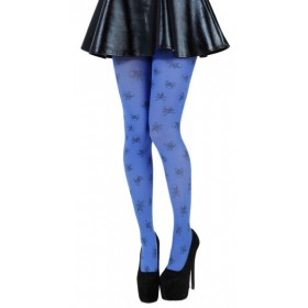 Skulls A Printed Tights (Flo Blue)