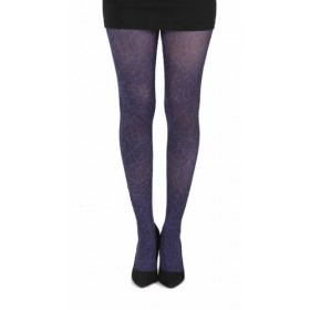 Webber B Printed Tights (Flo Purple)