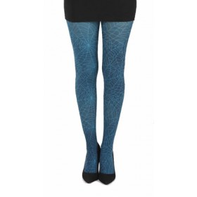 Webber B Printed Tights (Flo Turquoise)