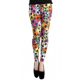Ava Skull Print Leggings (Multicoloured)