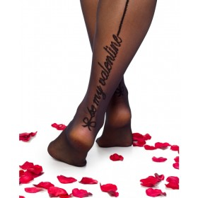 Be My Valentine Tights (Black)