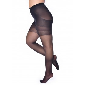 20 Denier Bum, Tum and Thigh Tights (Black)