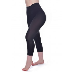 50 Denier Capri 3/4 Tights (Black)