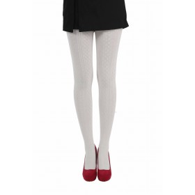 Cable Knit Tights (Cream)