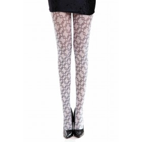 Embassy Printed Tights (Black/White)