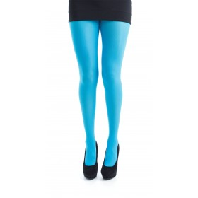 40 Denier Velvet Tights (Flo Turquoise)
