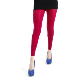 50 Denier Footless Tights (Cerise)