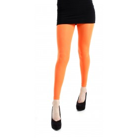 40 Denier Velvet Footless Tights (Flo Orange)
