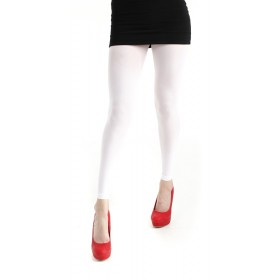 40 Denier Velvet Footless Tights (White)