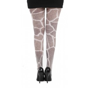 Furry Giraffe Printed Tights