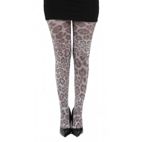Furry Leopard Printed Tights