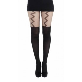 Lightning Suspender Tights (Black)