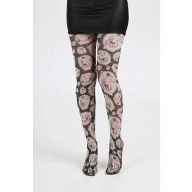Alchemy Lucky Bones Printed Tights (Black)