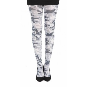 Military Printed Tights (Black/White)- CLEARANCE