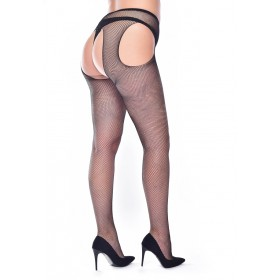 Fishnet Bodyfree Suspender (Black)