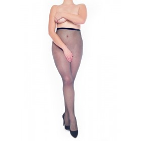 Fishnet Crotchless Tights (Black)