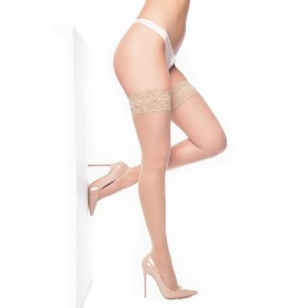 Lace Top Hold Ups Natural (Nude)